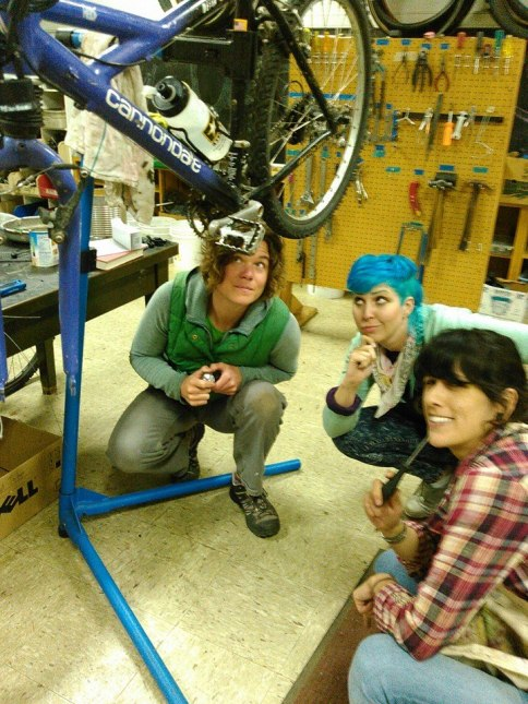 Bike kitchen mechanics March 2015