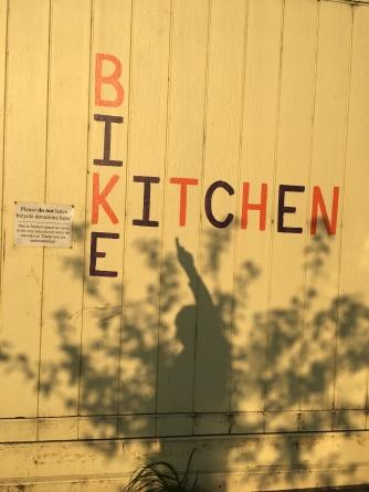 Bike Kitchen new sign